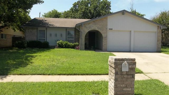 Rental Homes for Rent, ListingId:33982848, location: 3408 Palomino Drive Arlington 76017