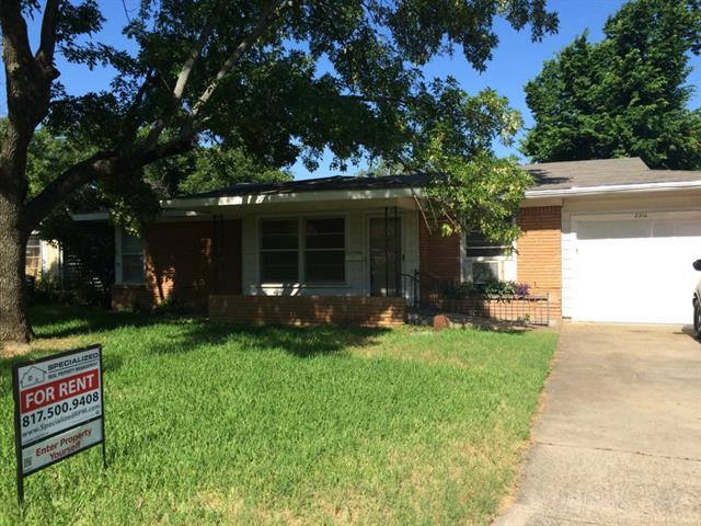 Rental Homes for Rent, ListingId:34124815, location: 2316 Maryel Drive Ft Worth 76112