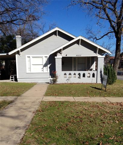 Rental Homes for Rent, ListingId:36635290, location: 4600 Byers Avenue Ft Worth 76107