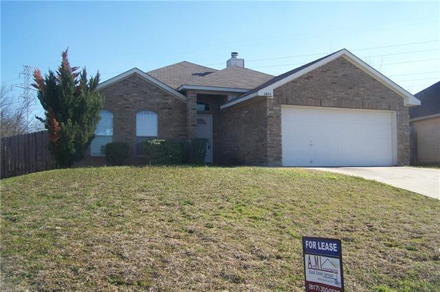 Rental Homes for Rent, ListingId:36985149, location: 3420 Cobblestone Drive Forest Hill 76140