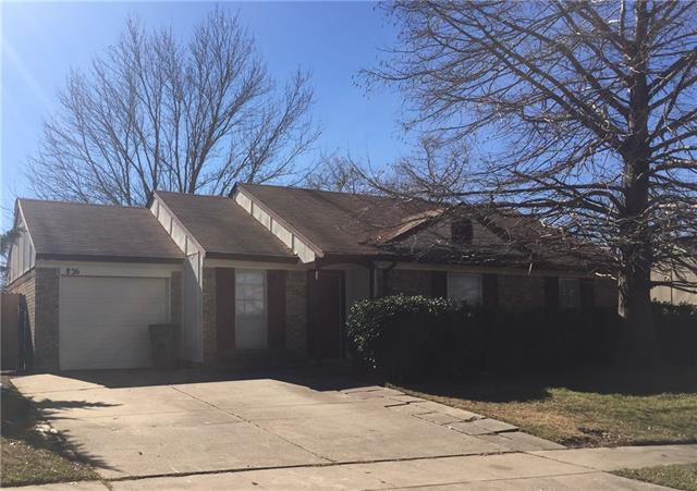 Rental Homes for Rent, ListingId:37133686, location: 826 Cavalier Drive Arlington 76017