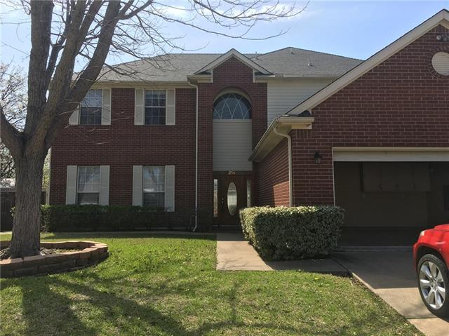 Photo of 214 Ember Glen Drive  Arlington  TX