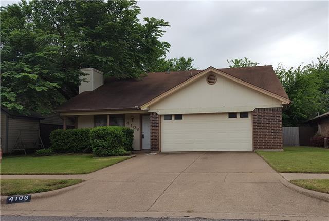 Photo of 4106 Brookmoor Drive  Arlington  TX
