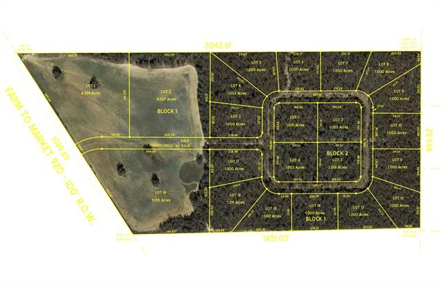 Lot 10 Timbers Circle Poolville, TX 76487