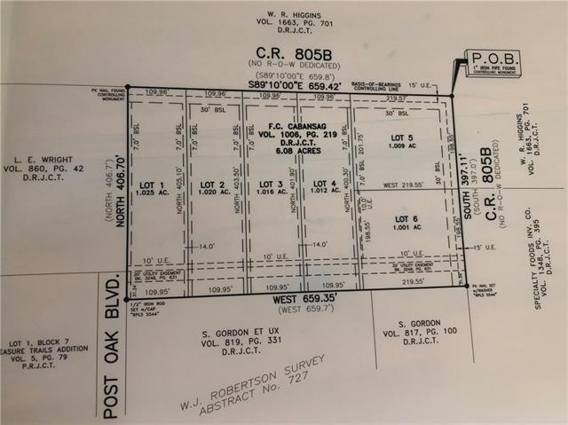 Lot 4 C.r.805b Keene, TX 76059
