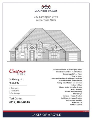 327 Carrington Drive, Argyle, Texas