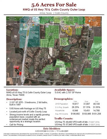 8221 US Highway 75, Anna, Texas 0 Bedroom as one of Homes & Land Real Estate
