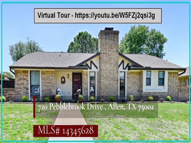 Allen Homes for Sale -  Single Story,  720 Pebblebrook Drive
