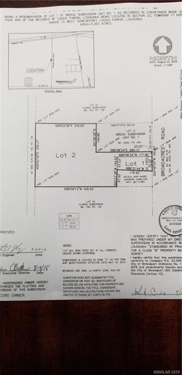 One of Shreveport Homes for Sale at 0 Broadacres Road