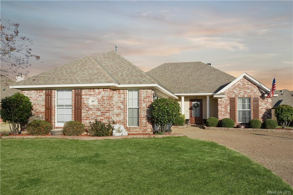 One of Bossier City 3 Bedroom Homes for Sale at 407 Half Moon Lane