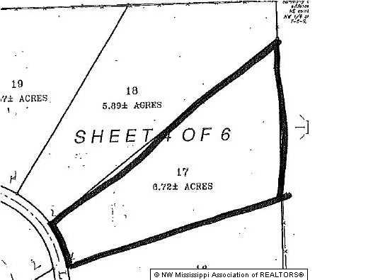 6.72 acres by Senatobia, Mississippi for sale