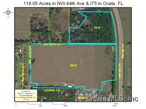 Land for Sale, ListingId:30786552, location: 3171 NW 44 AVE Ocala 34482