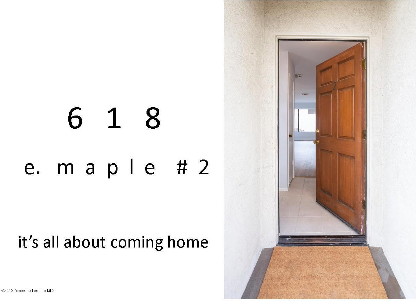 618 E Maple Street, Glendale in Los Angeles County, CA 91205 Home for Sale
