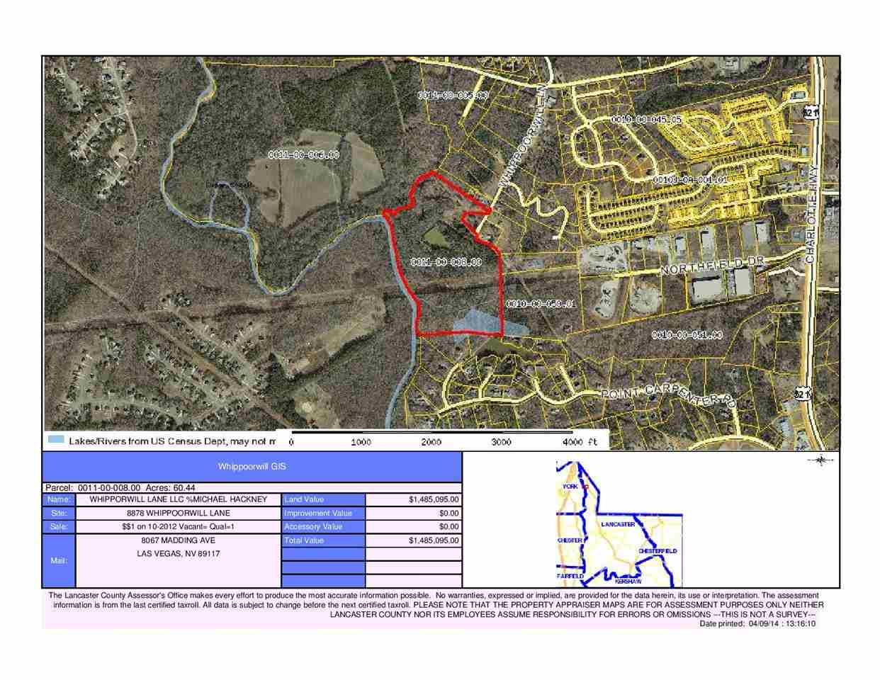 Land for Sale, ListingId:27600838, location: 8878 Whippoorwill Ln Ft Mill 29707