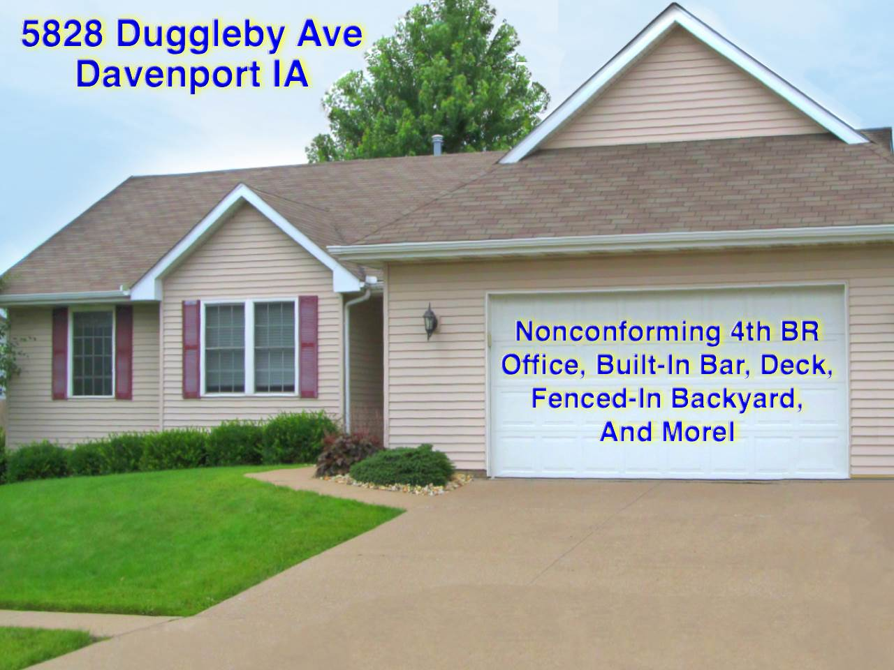 Real Estate for Sale, ListingId: 34279560, Davenport,IA52807