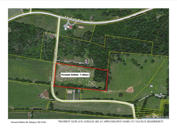 7.38 acres in Palmyra, Tennessee