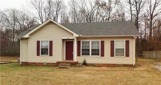 Rental Homes for Rent, ListingId:33944041, location: 549 Donna Drive Clarksville 37042