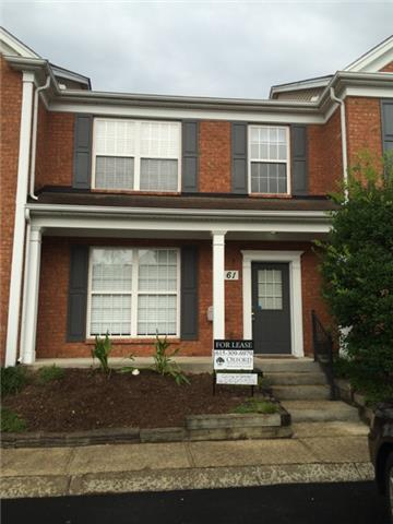 Rental Homes for Rent, ListingId:34410538, location: 601 Old Hickory Blvd, Unit 61 Brentwood 37027