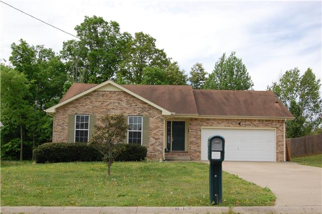 Rental Homes for Rent, ListingId:34974359, location: 612 Corinth Court Clarksville 37040