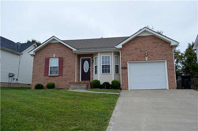 Rental Homes for Rent, ListingId:35652055, location: 2649 Cider Drive Clarksville 37040