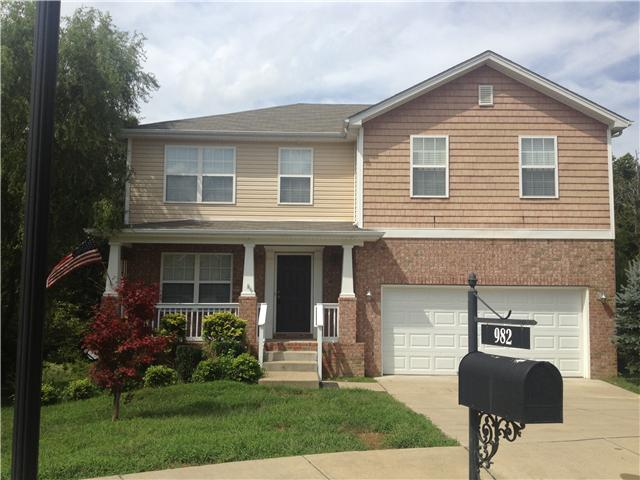 Rental Homes for Rent, ListingId:36238343, location: 982 Acadia Court Gallatin 37066