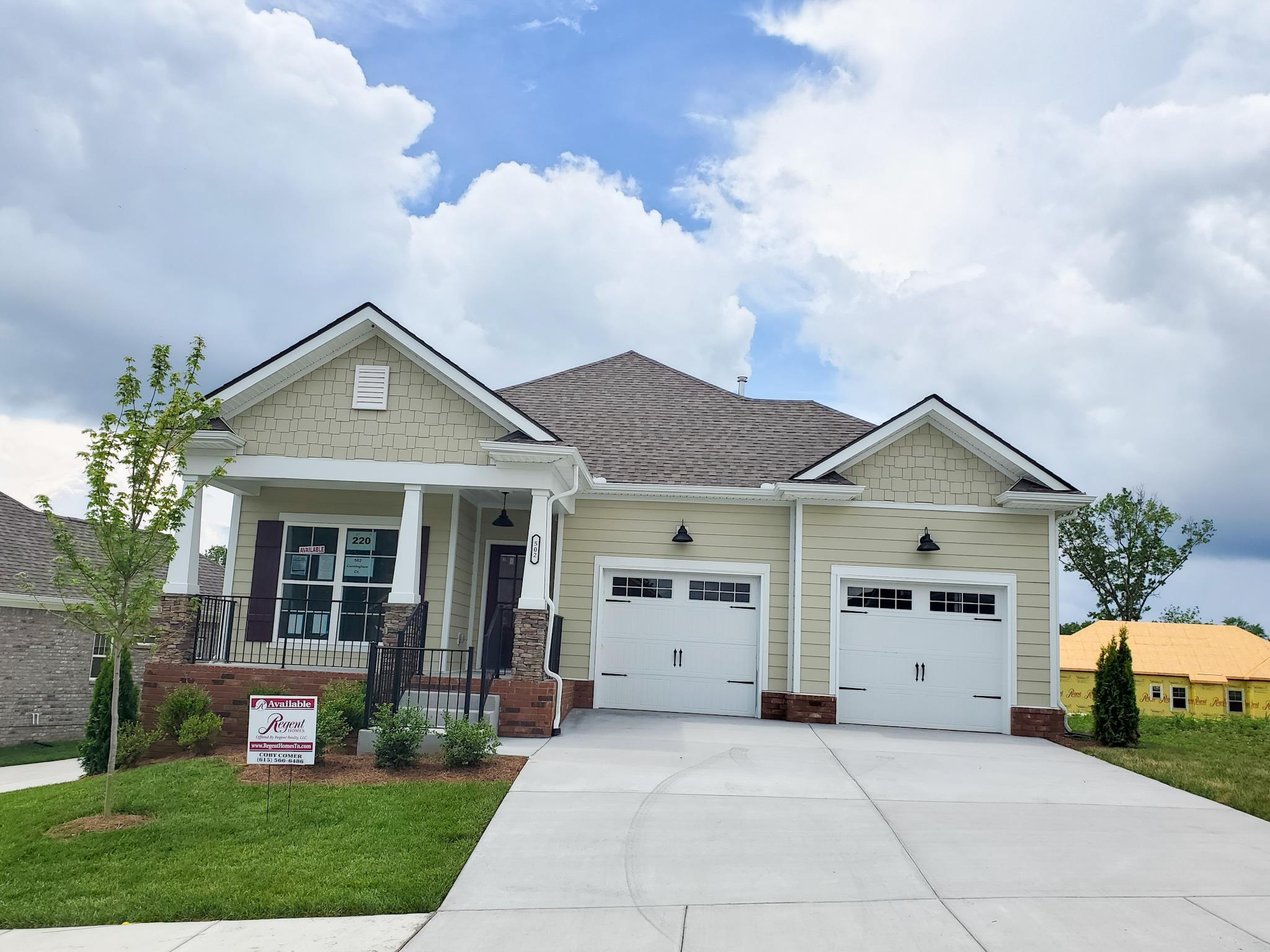 502 Cunningham Court, Lot #220, Mount Juliet in Wilson County County, TN 37122 Home for Sale