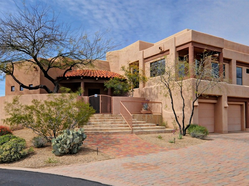 united states arizona cozy southwest adobe style home desert via - Adobe Style House Designs