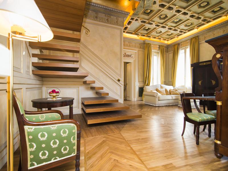 Lavish apartment in neoclassical style