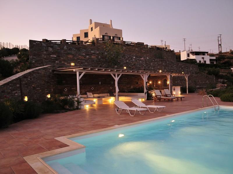 希腊- 安德罗斯岛 – 合欢山庄, villa albizia在prop