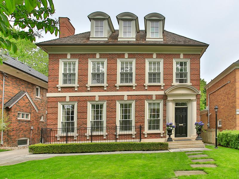 Canada toronto classic georgian architecture for sale on propgoluxury Architecture home for sale