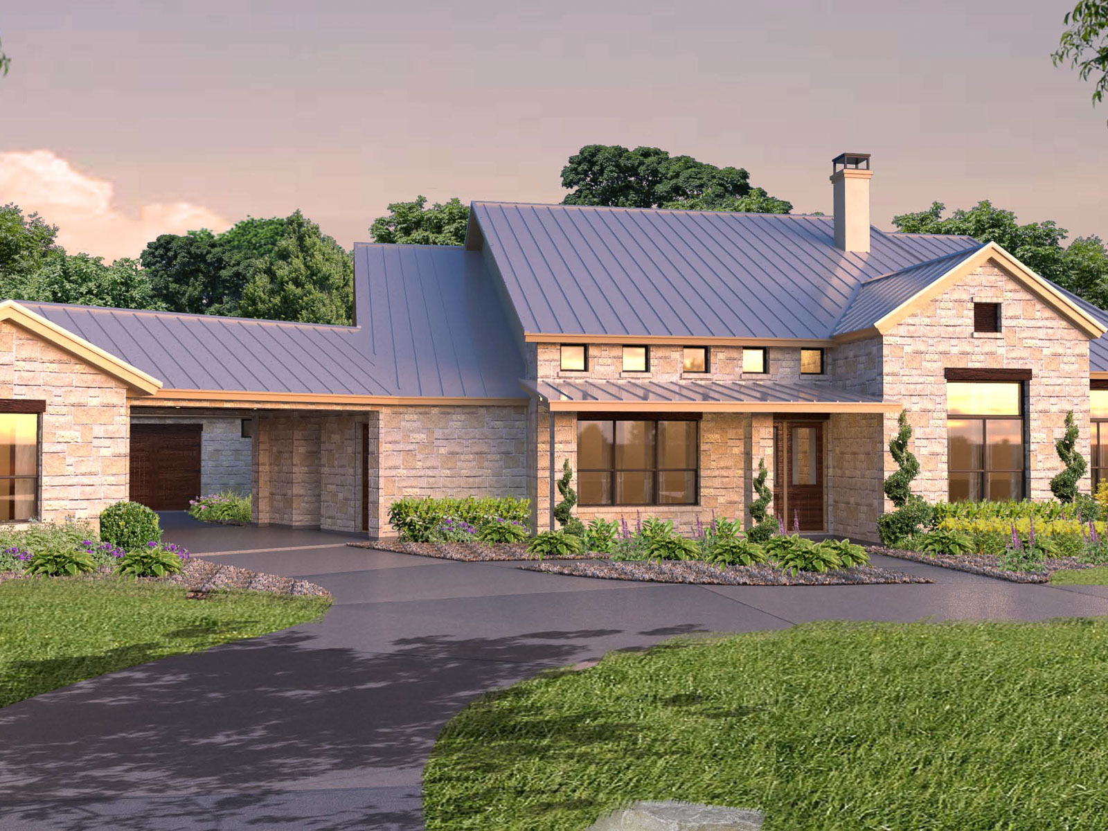 United states westlake beautiful one story custom home for Custom single story homes