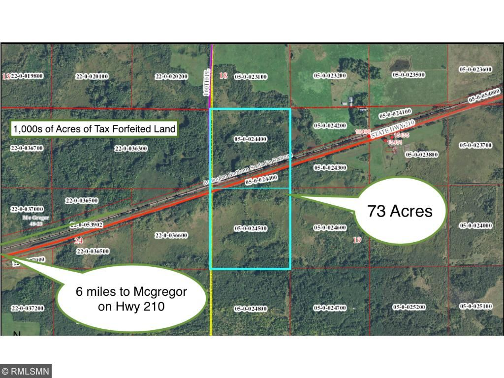 Image of Acreage for Sale near Tamarack, Minnesota, in Aitkin County: 73 acres