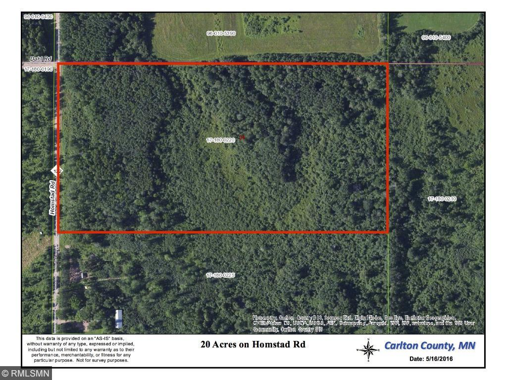 Image of Acreage for Sale near Cromwell, Minnesota, in Carlton County: 20 acres