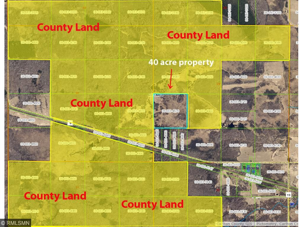 Image of Acreage for Sale near Barnum, Minnesota, in Carlton County: 40 acres