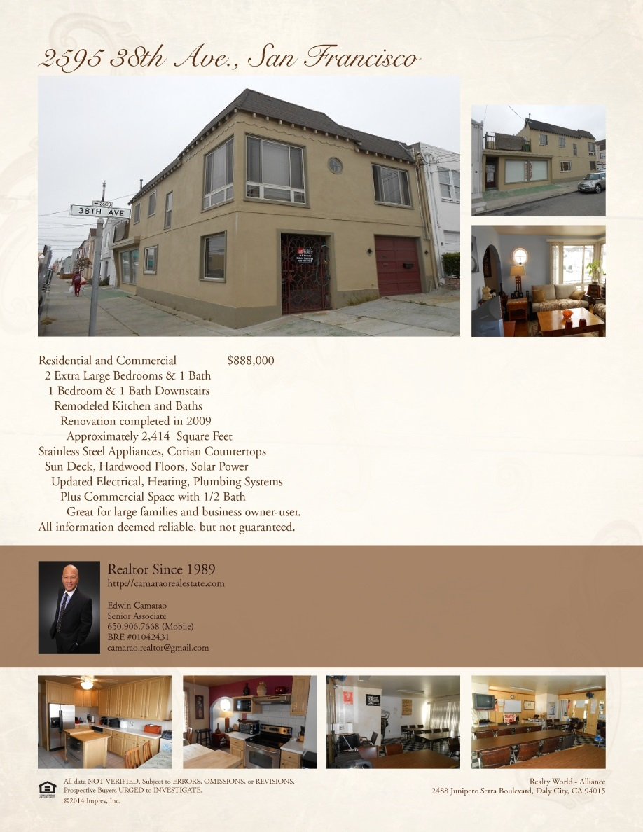 2595 38th Ave, San Francisco, CA 94116