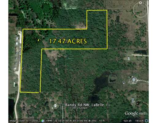 17.47 acres in Fort Denaud, Florida