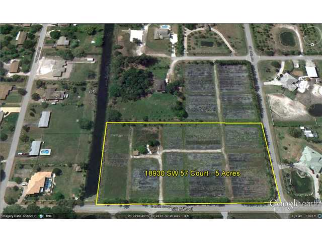 Image of Acreage w/House for Sale near Southwest Ranches, Florida, in Broward county: 5.00 acres