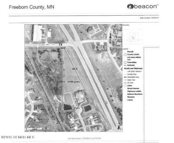 4 acres by Albert Lea, Minnesota for sale
