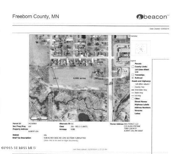 4.6 acres by Albert Lea, Minnesota for sale