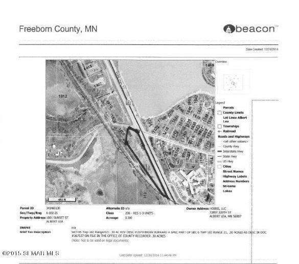 4 acres by Albert Lea, Minnesota for sale