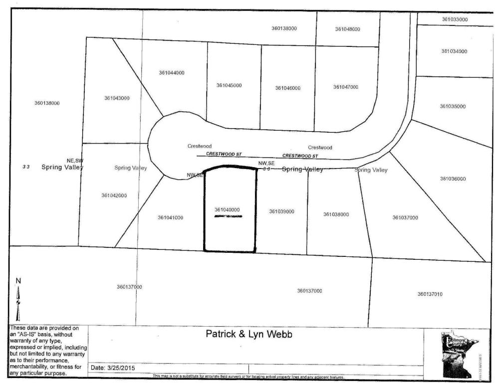 Real Estate for Sale, ListingId: 32403424, Spring Valley,MN55975