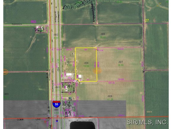 Image of Acreage for Sale near Farmersville, Illinois, in Montgomery county: 13.54 acres