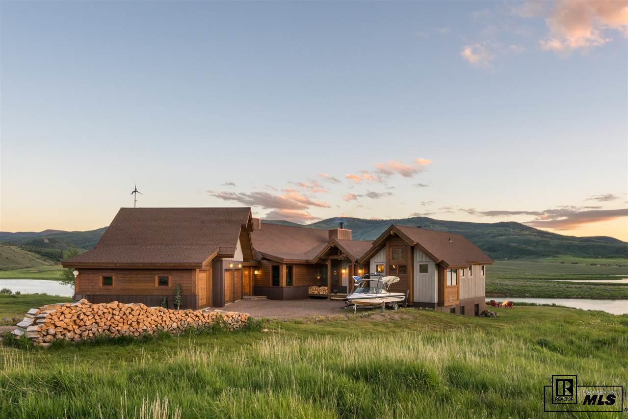 Colorado waterfront property in steamboat springs walden for Steamboat lake cabins