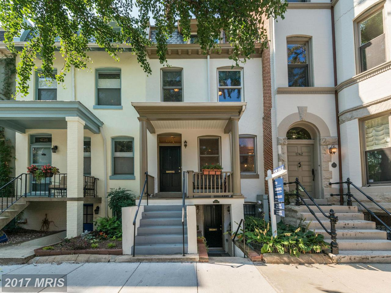 Single Family Home for Sale at Colonial, Attach/Row Hse - WASHINGTON, DC 1738 SWANN ST NW Washington, District Of Columbia,20009 United States