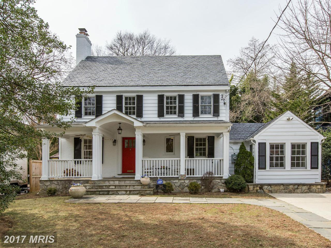 Single Family Home for Sale at Colonial, Detached - BETHESDA, MD 7802 FAIRFAX RD Bethesda, Maryland,20814 United States