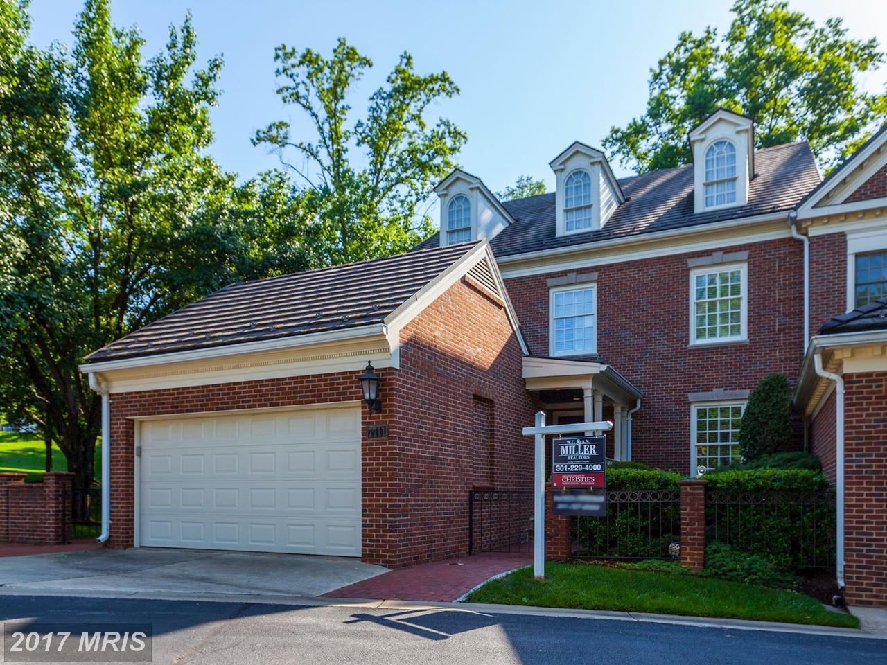 Single Family Home for Sale at Townhouse, Colonial - POTOMAC, MD 7711 HIDDEN MEADOW TER Potomac, Maryland,20854 United States