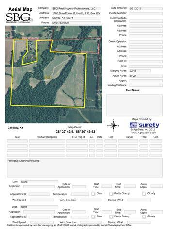 86.23 acres in Murray, Kentucky