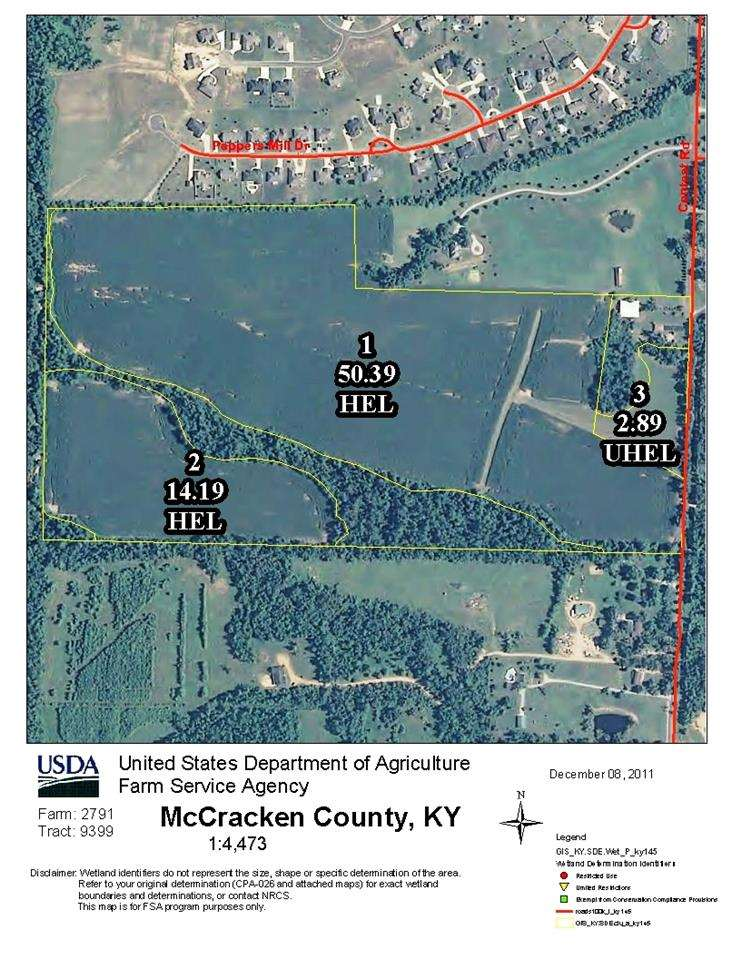 80 acres in Paducah, Kentucky