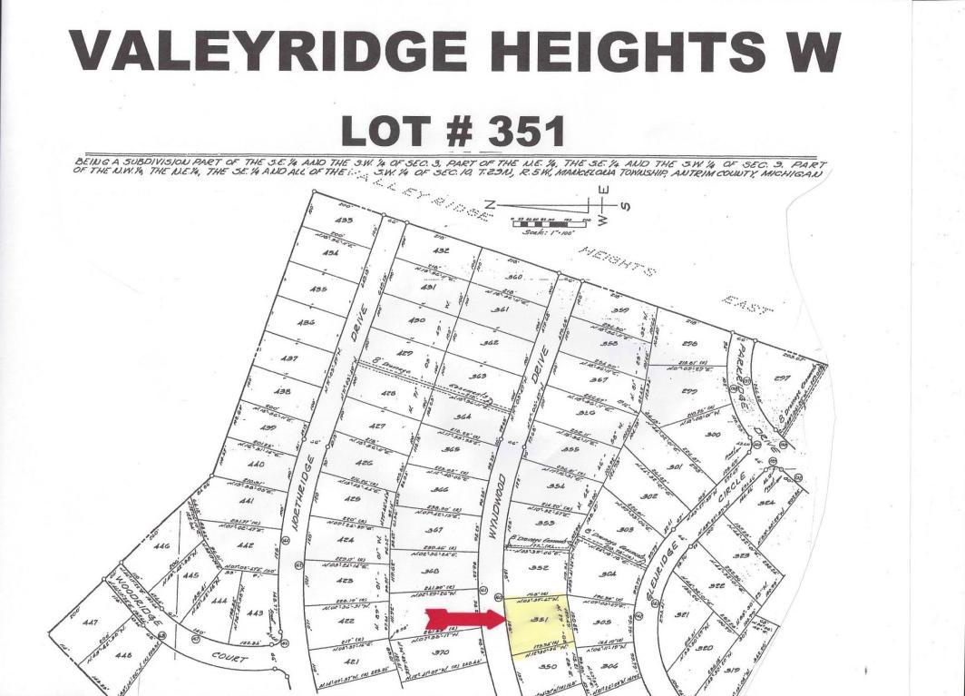 Land for Sale, ListingId:20452746, location: 351 Wyndwood Drive Mancelona 49659
