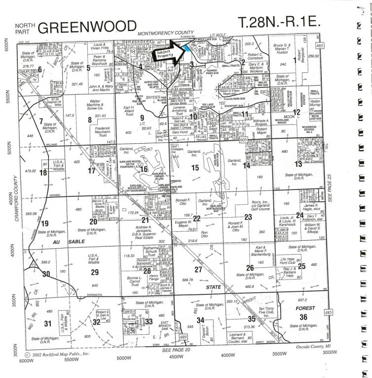 6.84 acres by Lewiston, Michigan for sale